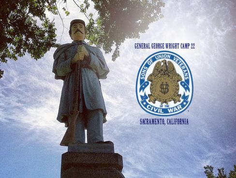 gar statue with logo
