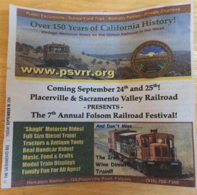 PSVRR Rail Fest Poster